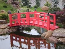 22. Japonský dřevěný mostek