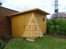 7. Nářaďový domek s pultovou střechou, boční spád