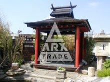 9. Čtvercový japonský altán