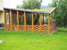 1. Altán se zelenou střechou, slouží i jako pódium