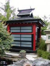 14. Japonský altánek s bočními výplněmi